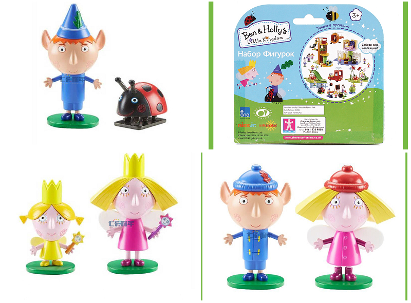 Ben and Holly little kingdom with original box Anime Figures Anime Cartoon Toys Child Toys gift 12pcs set children kids toys gift mini figures toys little pet animal cat dog lps action figures