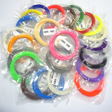 Fluo-blue 5m ABS 3d filament 21 Colors for 3D Printing Pen Plastic Rubber Consumables (color by random) Free Shipping
