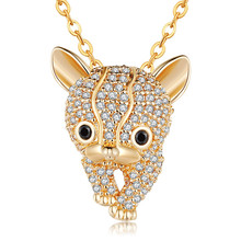 FYM Fashion High Quality 2 Colors leopard Shape Women & Men Cubic Zirconia Necklace  Gifts Jewelry For Bride Wedding Party fym high quality fashion high heels shape crystal cubic zirconia necklace