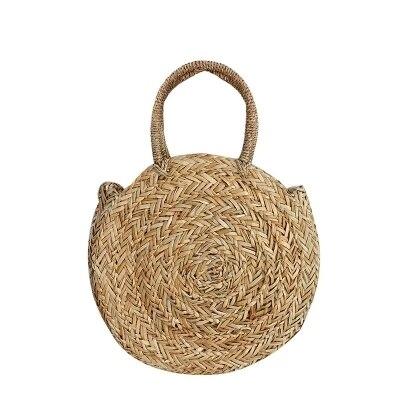 2018 Brand New Bohemian Straw Bags for Women Big Circle Beach Handbags Summer Vintage Rattan Bag Handmade Kintted Travel Bags 4