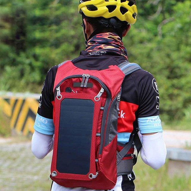Outdoor Riding Solar Charging Backpack