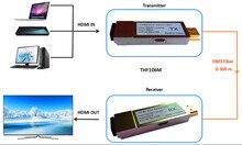 300m/1000ft Micro USB Mini HDMI fiber optical converter extender HDMI 1.4v (Transmitter + Receiver)through fiber OM3 Multimode cable