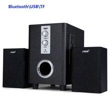 SADA Q1 2.1 3 Canal USB TF Altavoz Bluetooth Inalámbrico 4 pulgadas Subwoofer Altavoz Bajo Estupendo Cuerpo De Madera Para El Teléfono Móvil PC MP3