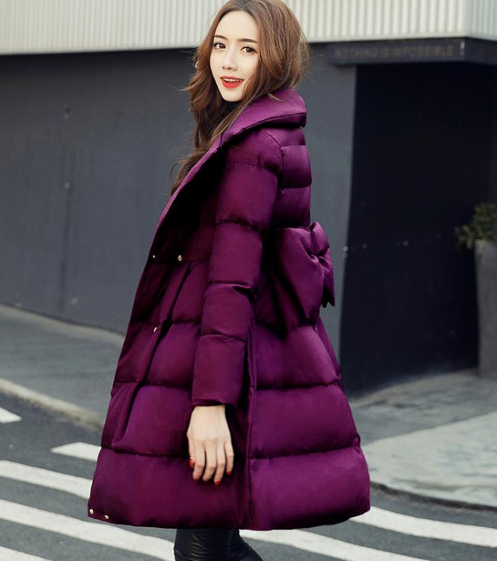 Woman Winter Jacket Coat 2018 Fashion Cotton Padded Jacket Long Hood Slim   Parkas   Plus Size Thicken Female Outerwear 1827