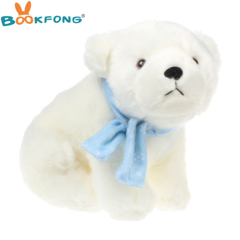 25 20cm Sleeping Plush Toy Soft Dolls Stuffed Animals Polar Bear