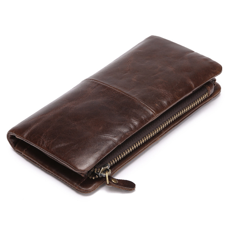 MAIFEINI New Arrival Retro Cow Leather Wallet Men Phone Pocket Genuine Leather Purse Clutch Money Bag Card Holders Bolsa 2017 purse wallet big capacity female famous brand card holders cellphone pocket gifts for women money bag clutch passport bags