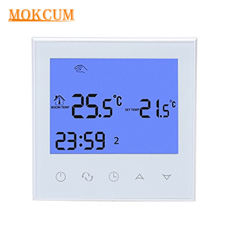 Programmable Wifi Thermostat Smart Home Water Heating Smart Programmable Room Temperature Controller with Sensors Touch Screen programmable thermostat heating temp wifi lcd touch screen temperature control underfloor 16a 230v