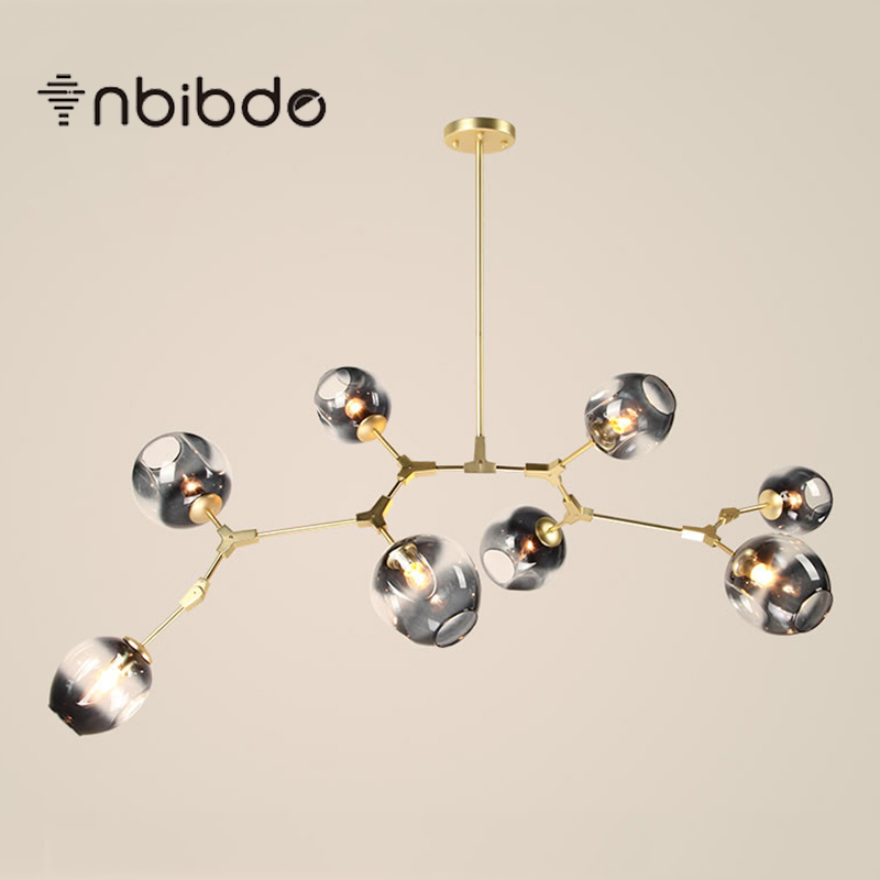 modern e27 led ceiling lamps black gold bar stair dining room glass shade suspension luminaire. Black Bedroom Furniture Sets. Home Design Ideas