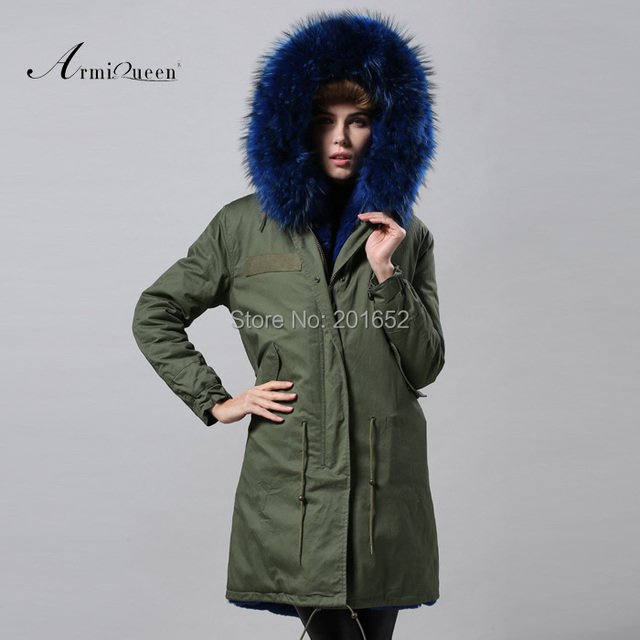 Women raccoon Winter Warm Parka high quality Faux Fur parka Hooded Coat Overcoat Tops Women's Fur Jacket 4