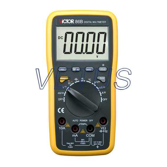LCD display VICTOR 86B 3 3/4 Digital Multimeter DMM digital multipurpose meter with USB victor digital multimeter vc9804a  3 4