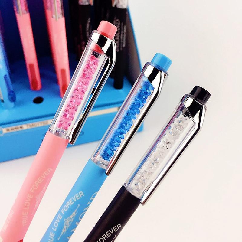 Kawaii Diamond Mechanical Pencil Cute Plastic Colored Automatic Pencils For Kids School Supplies Free Shipping 3532