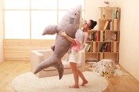 Огромный мультфильм Серый плюшевая игрушка Акула Большой чучело акулы кукла подарок около 150 см
