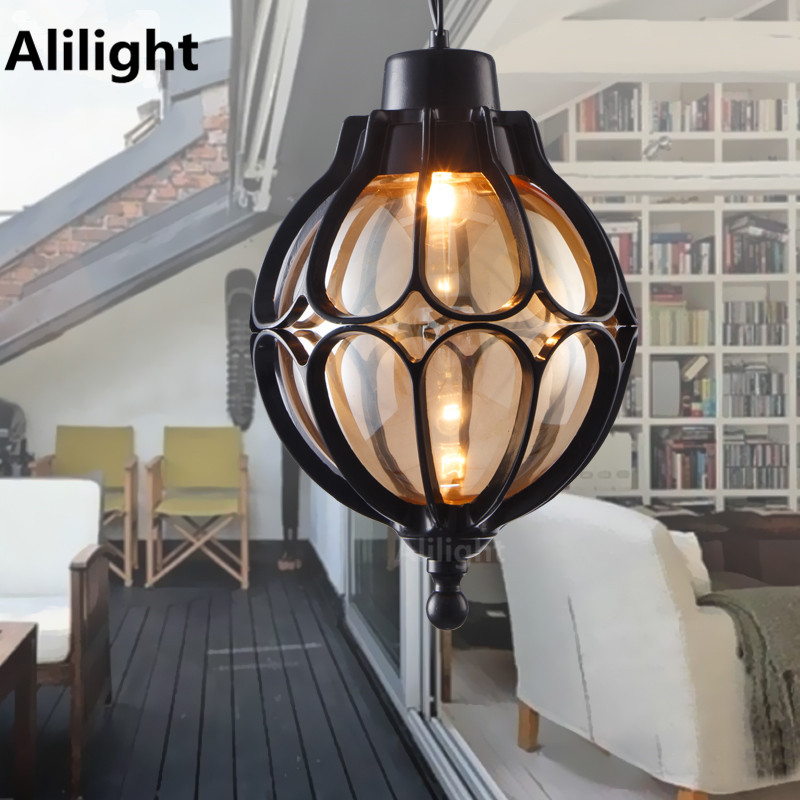 Waterproof Garden Lights Vintage Hanging Lamp Balcony Continental Simple Outdoor Lighting Lamps Hallway Entrance Light Fixtures