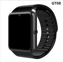 Купить с кэшбэком Smart Watch GT08 Clock Sync Notifier Support Sim TF Card Bluetooth Connectivity Android Phone Smartwatch Alloy Smartwatch