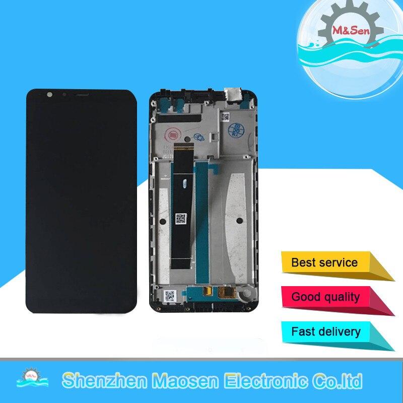 M & Sen Pour 5.7 Asus Zenfone Max Plus M1 ZB570TL X018DC LCD écran affichage + Écran Tactile Digitizer avec cadre Livraison gratuite