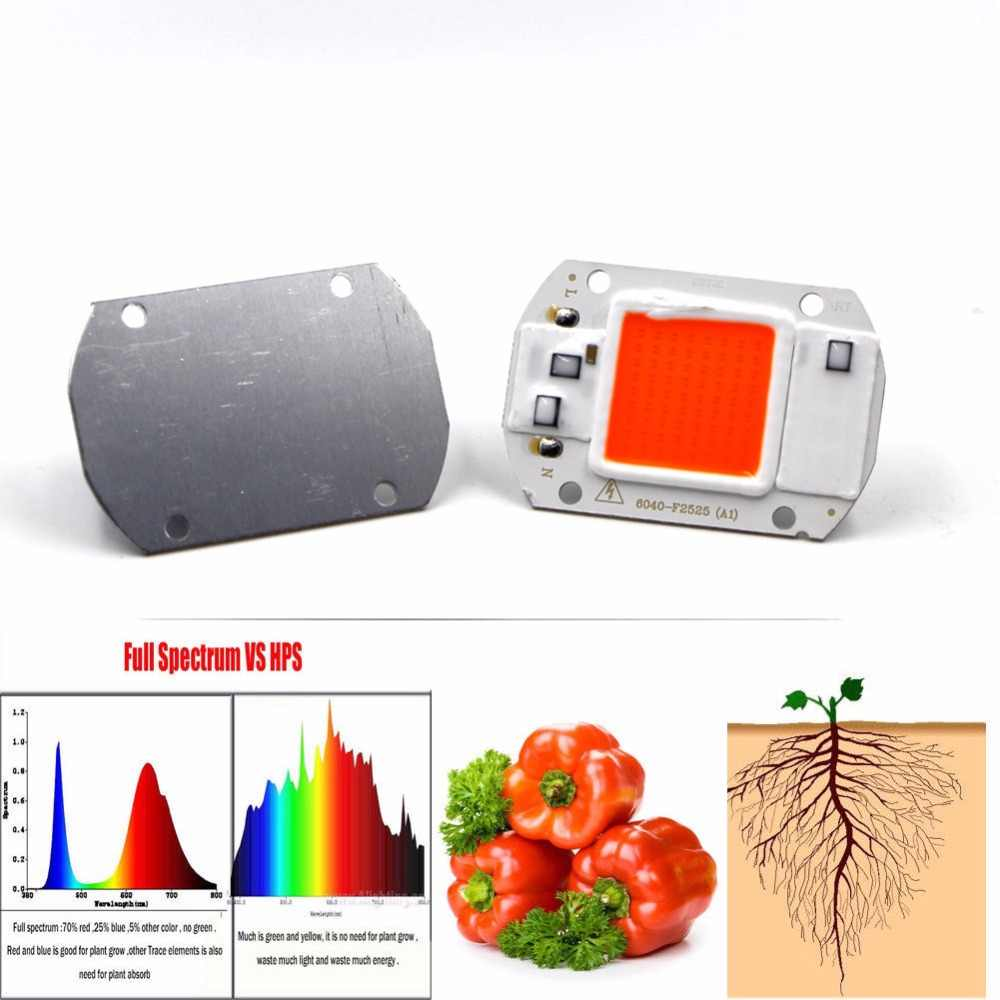 Full Spectrum LED COB Phyto Grow Chip 20W 30W 50W 110V 220V 380-840nm DIY Garden Hydroponic Seedlings Plant Grow Light LED Chip