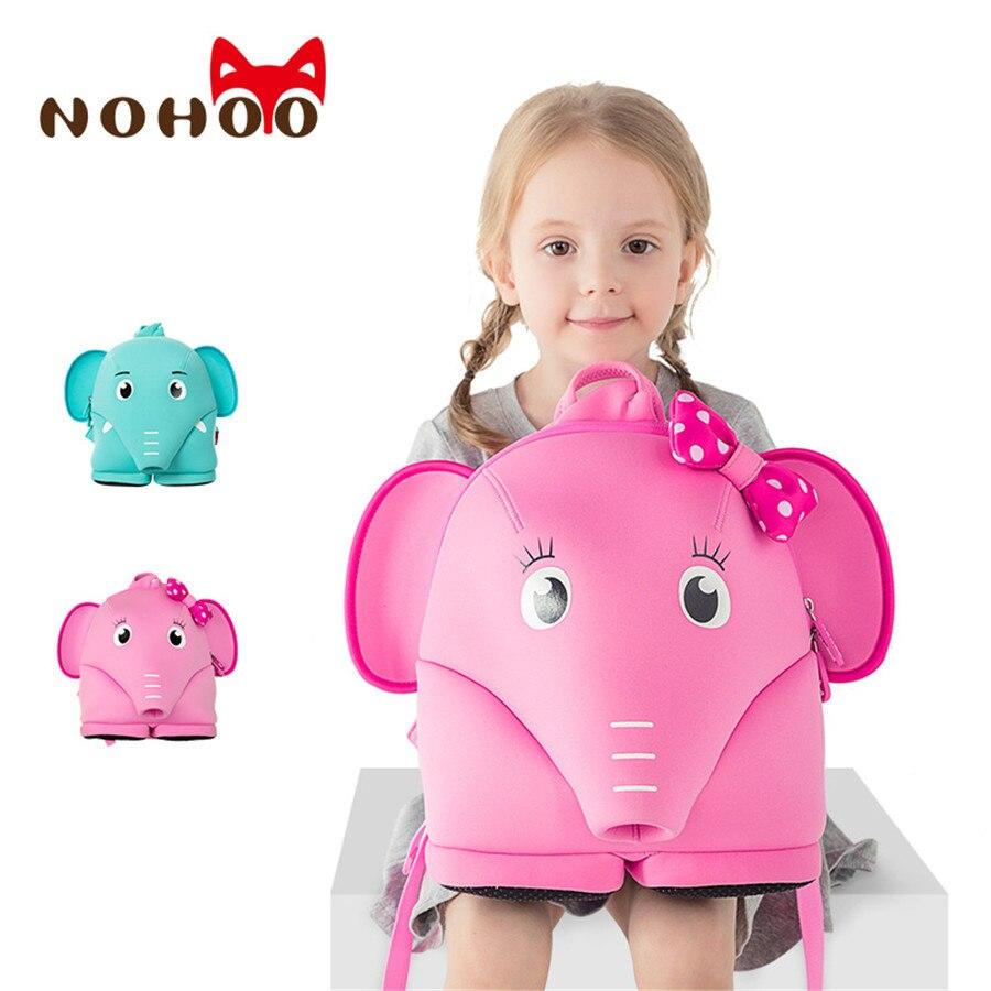 Nohoo 3D Kids Backpack Neoprene Waterproof Children Backpacks Girl School  Bag Cartoon Printed Animal Boy Kindergarten Bags
