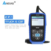 NEXAS – outil de Diagnostic automobile NL102, Scanner professionnel, 2 en 1, avec moniteur de batterie, pour voiture/camion universel, prise OBD2