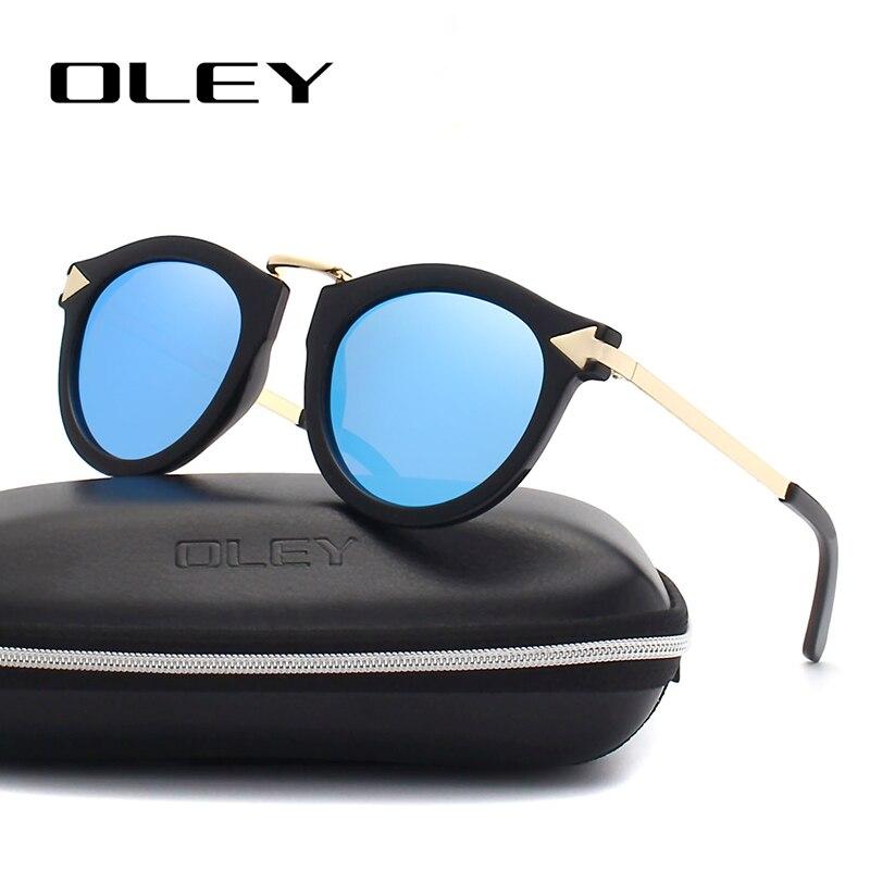 OLEY Sunglasses Arrow Oculos-De-Sol Polarized Women Driving-Goggles Round Retro Brand