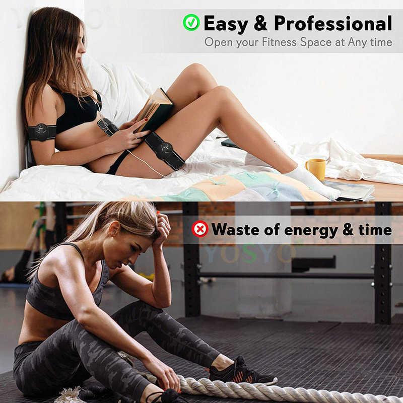 EMS Kablosuz Kas Stimülatörü Eğitmen Akıllı Spor Karın Eğitim Elektrik Kilo Kaybı Çıkartmalar Vücut Zayıflama Kemer Unisex