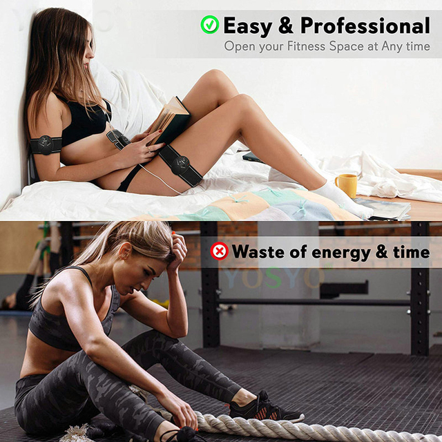 EMS Muscle Stimulator Trainer Smart Fitness Abdominal Training Electric Body Weight Loss Slimming Device WITHOUT RETAIL BOX