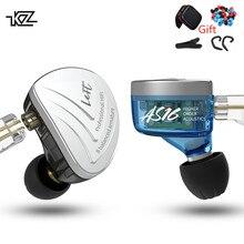KZ AS16 16BA блоки сбалансированные арматурные Hifi бас в ухо монитор наушники шумоподавление наушники для телефона