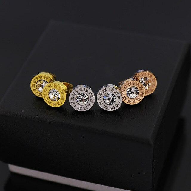 Aliexpresscom Buy Rose Gold Earrings Wholesale Fashion Jewelry