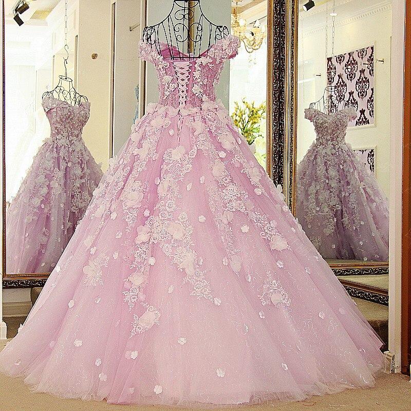 LS65321 vestidos de noche con cuentas de lavanda de cristal del ...