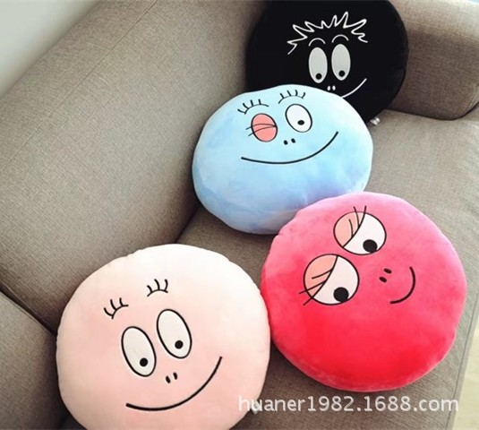 Rare Big Barbapapa pillow round cushion funny face Barbapapa plush toys creative birthday gift s 2xl 2 colors 2015 new winter women down coat long slim turn down collar zipper jacket female belt pocket outwear zs308