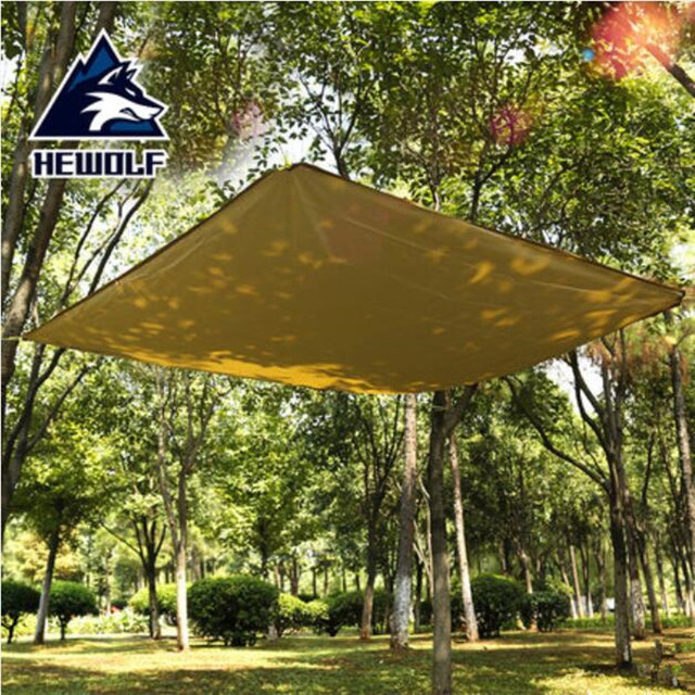 Hewolf Sun Awning Sunshade Canopy Sun Beach Parking Shed Car Tent Rain Shelter Tent Ultralight Tarp