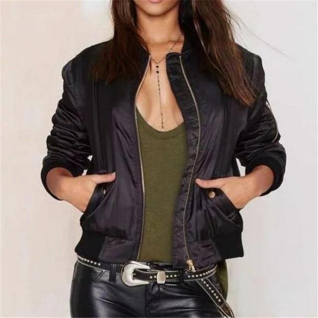 Aliexpress.com : Buy Basic Baseball Jacket Women Bright Colors MA1 ...
