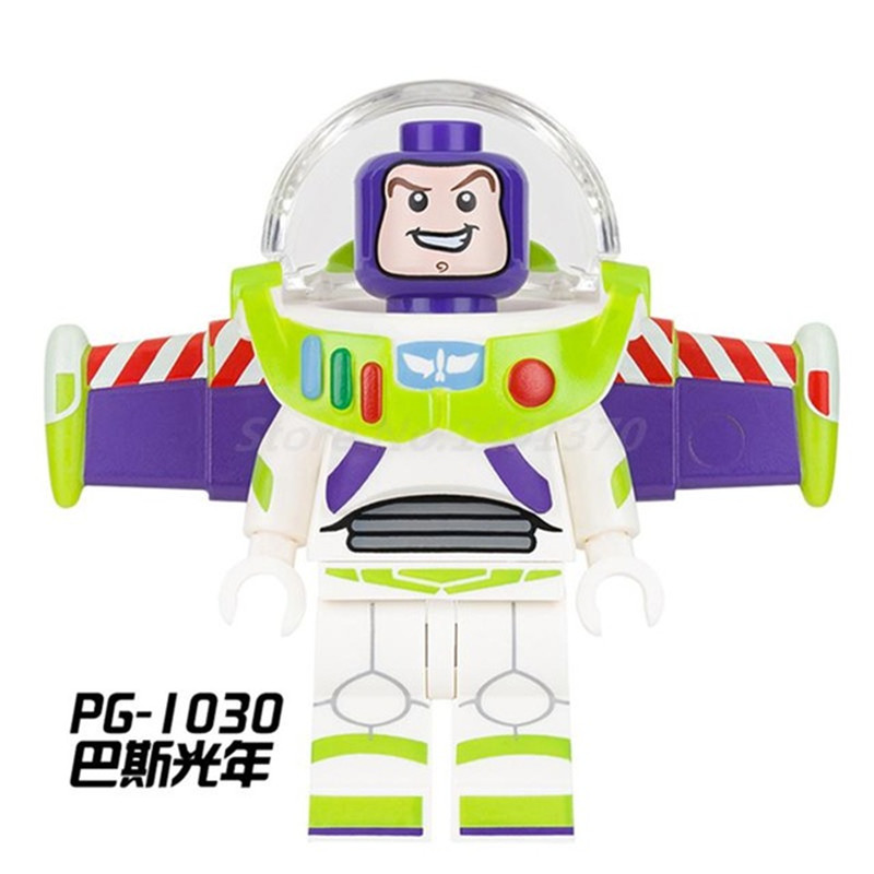 DIY PG1030 legoing figure playmobil Building Block Brick Single Sale Toy Story Buzz Lightyear Kids Educational Toys for Children loz 280pcs l 9522 deadpool action figure building block educational diy toy
