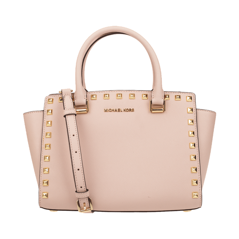 Michael Kors selma stud md Leather Crossbody Handbag