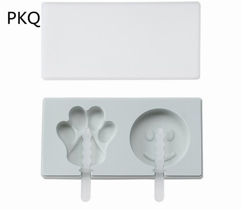 Smile Face 3D Silicone Mold With Cover DIY Fondant Cake Cupcake Decorating Tools Clay Resin Candy Mold