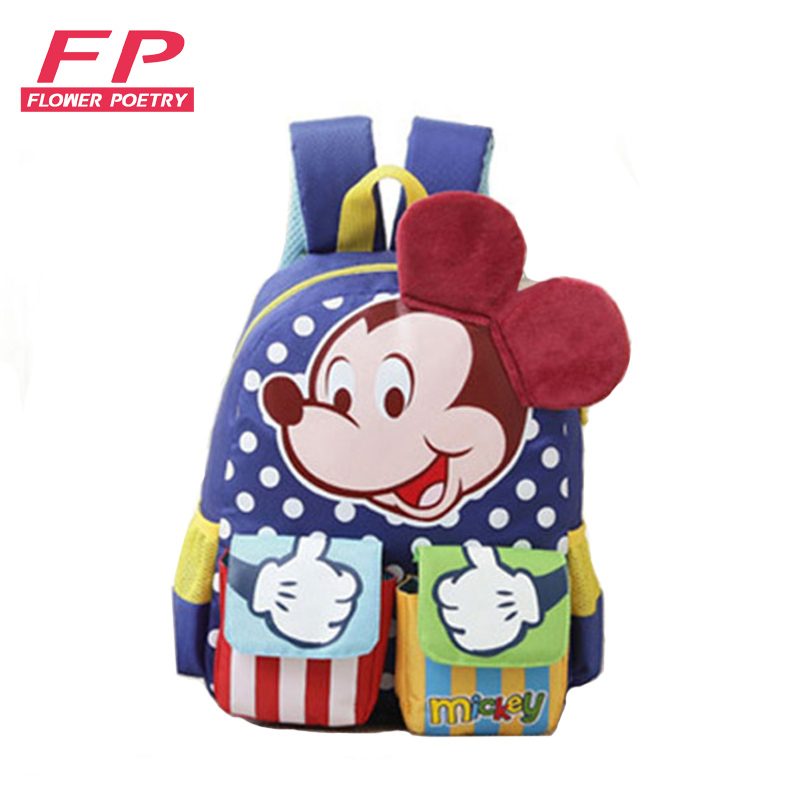 dos desenhos animados mickey crianças School Bags Openings Way : Zipper