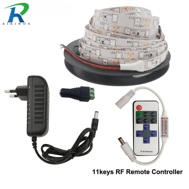 LED Strip 2835 DC12V Flexible LED Light Leds tape diode led ribbon 60LED/m Warm White Red Greed Blue Yellow With Remote With 2A