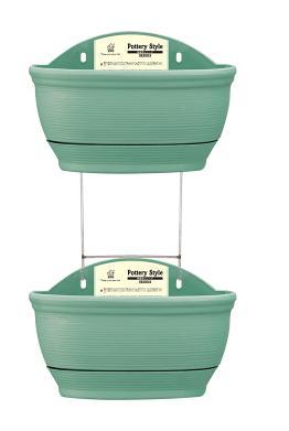 0007 двойное керамическое стильное Настенное подвесное кашпо горшок домашний Декор украшение сада автоматическое полив гидропоники горшки для растений - Цвет: green