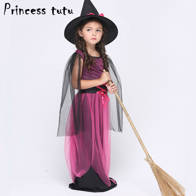 PRINCESS TUTU Purple Evil Witch Costume With Hat Girls Clothing ...