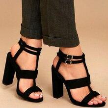 Teahoo Summer Gladiator Sandals Women Buckle Strap High Heels Pumps Women  Sandals 2018 Fashion Party Dress 37bc77070ab3