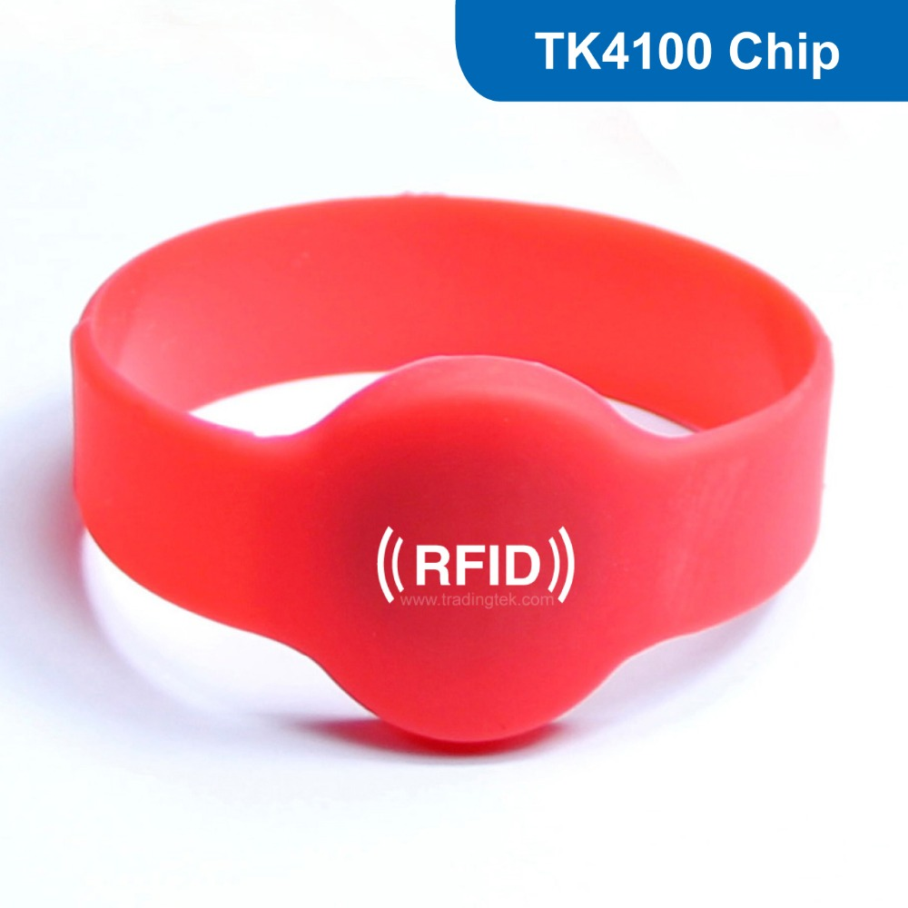 WB02 RFID Wristband for Access Control RFID Bracelet Tag 125KHZ 64Bit Read only  with TK4100 Chip 1000pcs long range rfid plastic seal tag alien h3 used for waste bin management and gas jar management