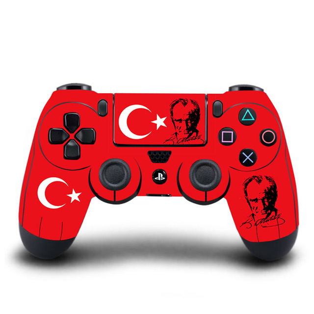 Homereally ps4 sticker classic flag of turkey protective hd ps4 skin full cover for sony play