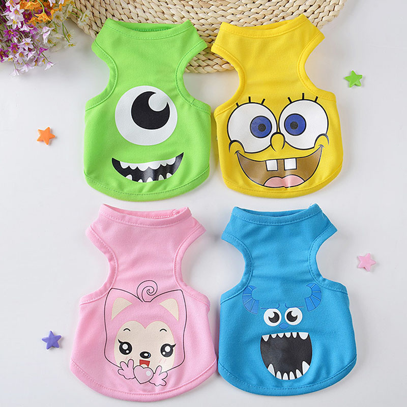 FopPet 2017 New Summer Cartoon Dog Pet Vest High Quality Cotton Clothes Cute  Dogs Vest Shirts For Small Dogs S M L XL In Dog Vests From Home U0026 Garden On  ...