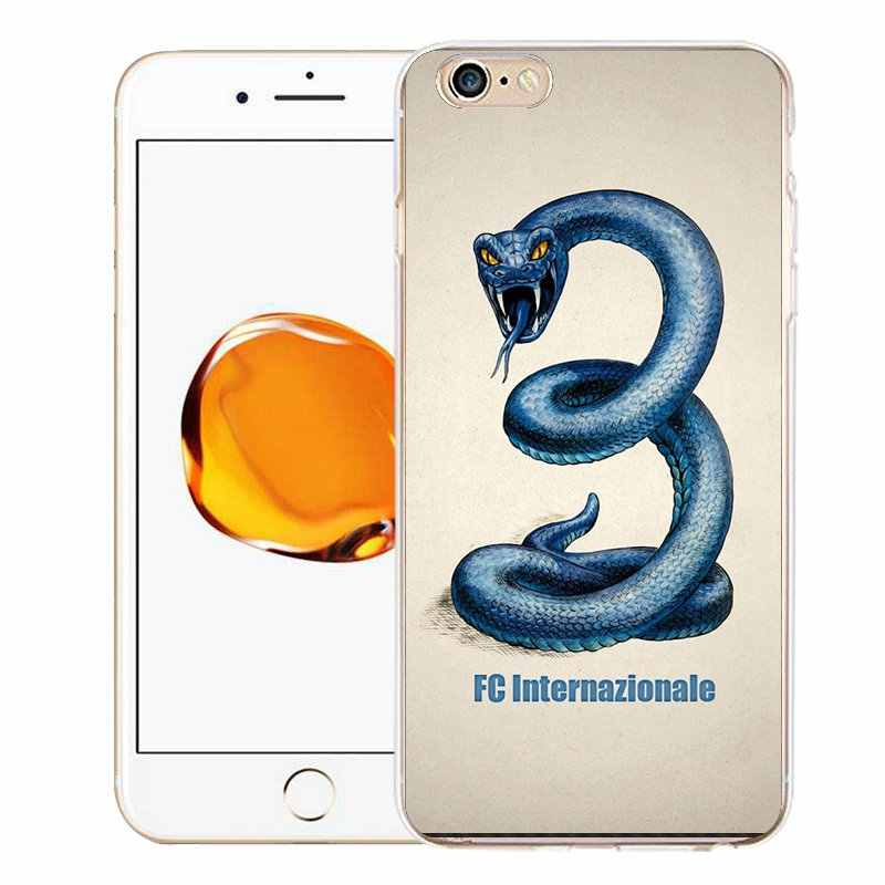 Qmswei tpuクリア電話ケースiphone用6グラム6 s 7 8プラスxソフトピエロヘビミッキーシリコンプリントカバー用iphone 4 5se 6プラス7 p
