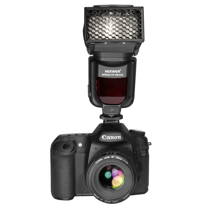 Universal Portable Metal Honeycomb Grid For Flash Narrow The Beam Of Light For YongNuo Flash For Canon For Nikon Flash
