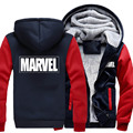 New Winter Jackets and Coats Marvel hoodie Captain America The Avengers Hooded Thick Zipper Men Sweatshirts