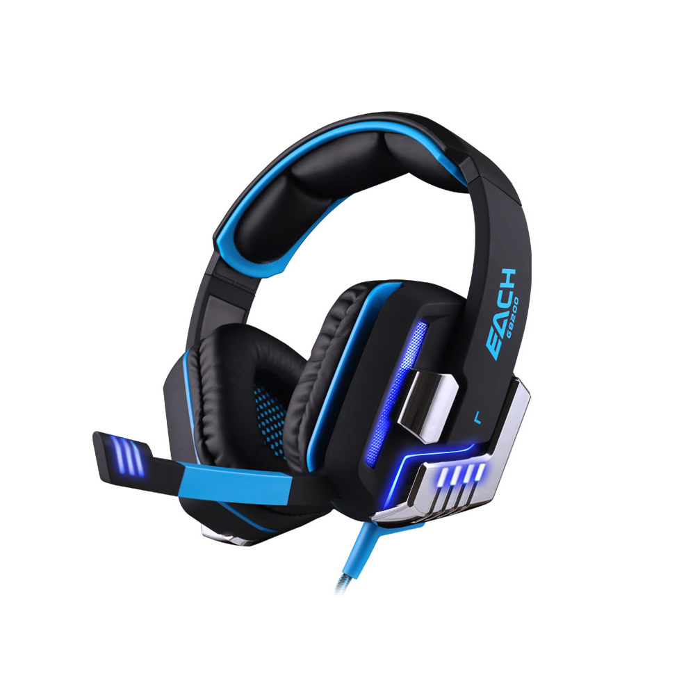 KOTION EACH G8200 Wired Headphone 7.1 Surround USB Vibration Gaming Headset with Mic LED Light Headband Earphone for PC Gamer kotion each g2100 gaming headset stereo bass casque best headphone with vibration function mic led light for pc game gamer