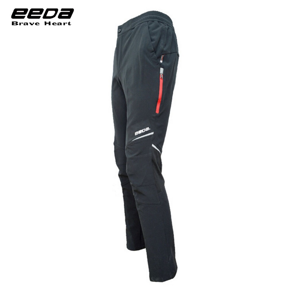 EEDA Men Sports Waterproof Windproof Reflective Breathable Bike Bicycle Jersey Pants Winter Fleece Thermal Cycling Wind Trousers rax 2015 thermal fleece hiking pants for men women winter outdoor sports warm fleece trousers fleece camping pants 54 4f089