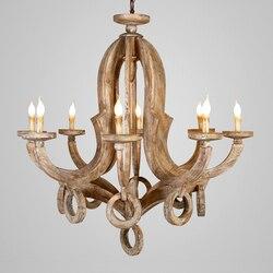 Nordic projekt drewna żyrandol lustre oświetlenie led zawieszenie oprawa industrielle w stylu art deco żyrandole vintage home decor