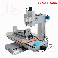 Free tax to Russian 5axis Vertical engraving machine CNC router 6040 1.5KW with A axis B axis