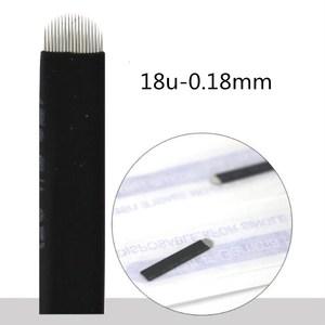 Image 3 - Aguja flexible para Microblading Tebori Agulha, 500 Uds., 0,18mm, en forma de U, para tatuaje, cejas, Microblading Blades, negro